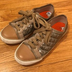 Tory Burch gold sneakers